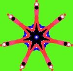 Звезда на зелёном фоне