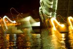 Ночь Биржевой мост Петербург