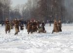 Русские солдаты в наступлении