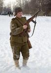 Боец советской армии