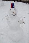 Веселый такой снеговик