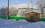 Дом и гараж зимой