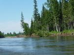 Сибирская река Ока.